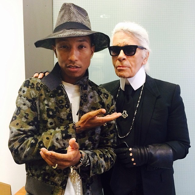 Pharell Wiliams and Karl Lagerfeld