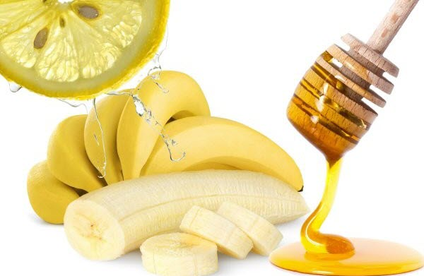 Banana-Honey-and-Lemon-Juice-Pack